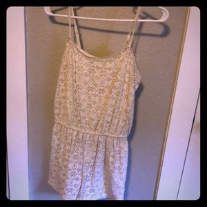 Mossimo Ivory lace shorts romper M
